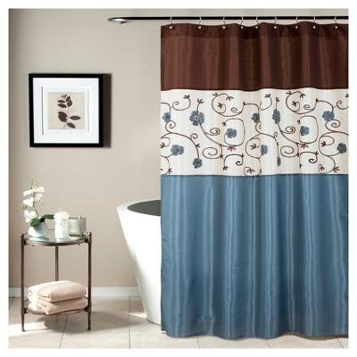 Royal Garden Shower Curtain Blue - Lush Decor®