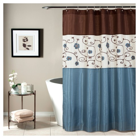 Royal Garden Shower Curtain Blue - Lush Decor® - image 1 of 1