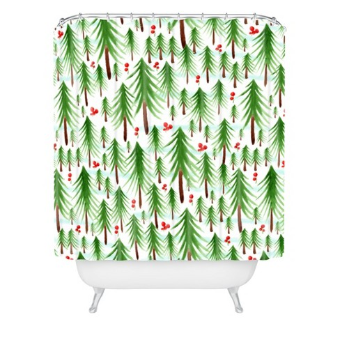 Christmas Tree Farm Shower Curtain Green Deny Designs Target Shop target for shower curtains, shower curtain liners and other accessories. christmas tree farm shower curtain green deny designs