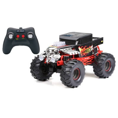 New Bright  Hot Wheels R/C  Monster Truck - 1:10  Scale - 9.6 Volt  - Bone Shaker