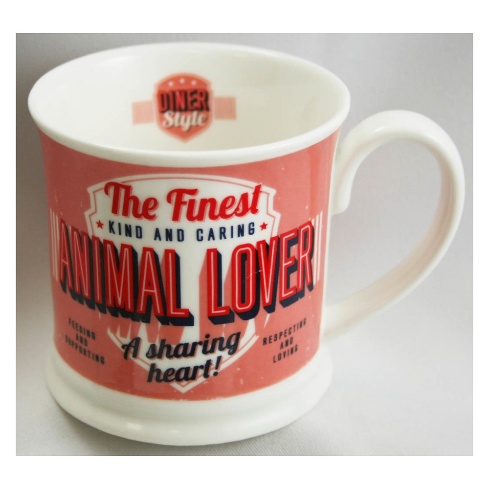Image of Animal Lover Diner Style Mug - History & Heraldry, Red