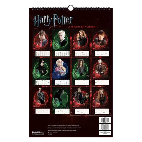 2019 Wall Calendar Harry Potter Oversized Trends International