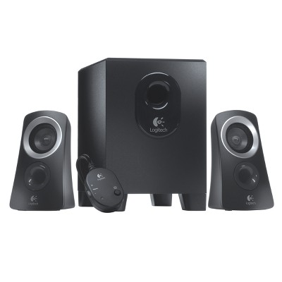 Logitech Z313 Speaker System with Subwoofer - Black (980-000382)