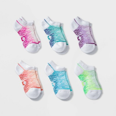 Kids' 6pk No Show Athletic Socks - All in Motion™