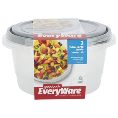 GoodCook EveryWare Round 15.7 Cups Food Storage Container - 2pk