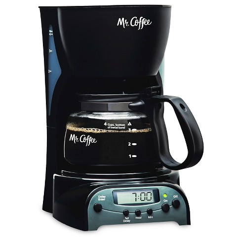 Mr. Coffee 4-Cup Programmable Coffee Maker, Black, DRX5-NP - image 1 of 4