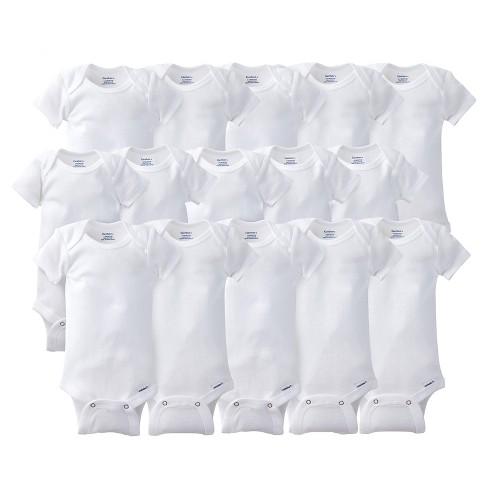 6dddc1961 Gerber® Onesies® Bodysuits 15pc White Grow With Me Bundle - 0-3m, 3-6m,  6-9m : Target