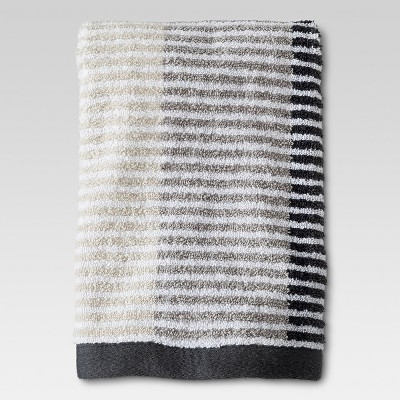 Stitch Stripe Hand Towel Gray - Threshold™