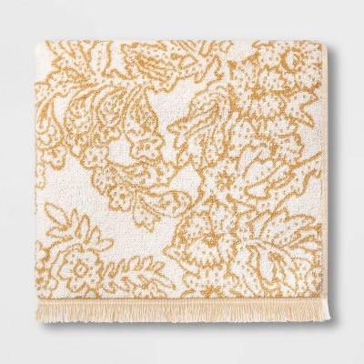 Traditional Floral Bath Towel Yellow - Threshold™