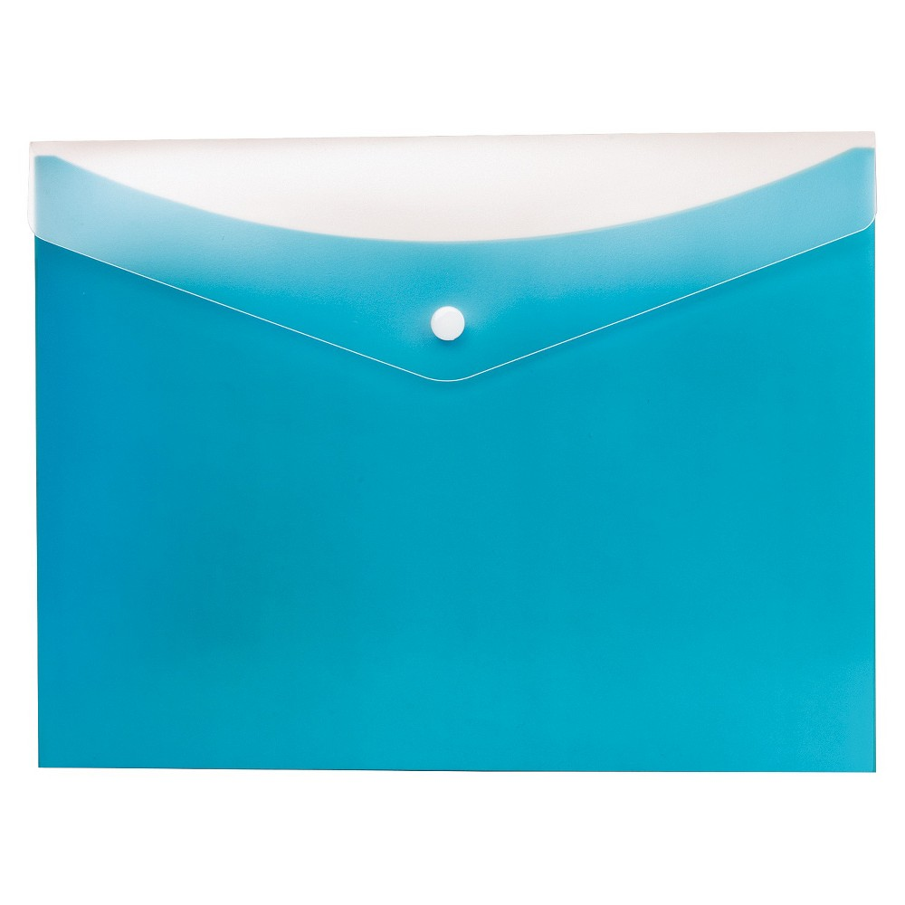 Globe-Weis Poly Snap Envelope, Letter, Blueberry