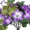 "Vickerman 22"" Artificial Purple Petunia Bush. - image 2 of 4"