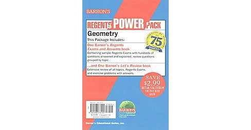 Geometry Power Pack : Barron's Regents Exams and Answers Geometry / Let's Review Geometry (Paperback) - image 1 of 1
