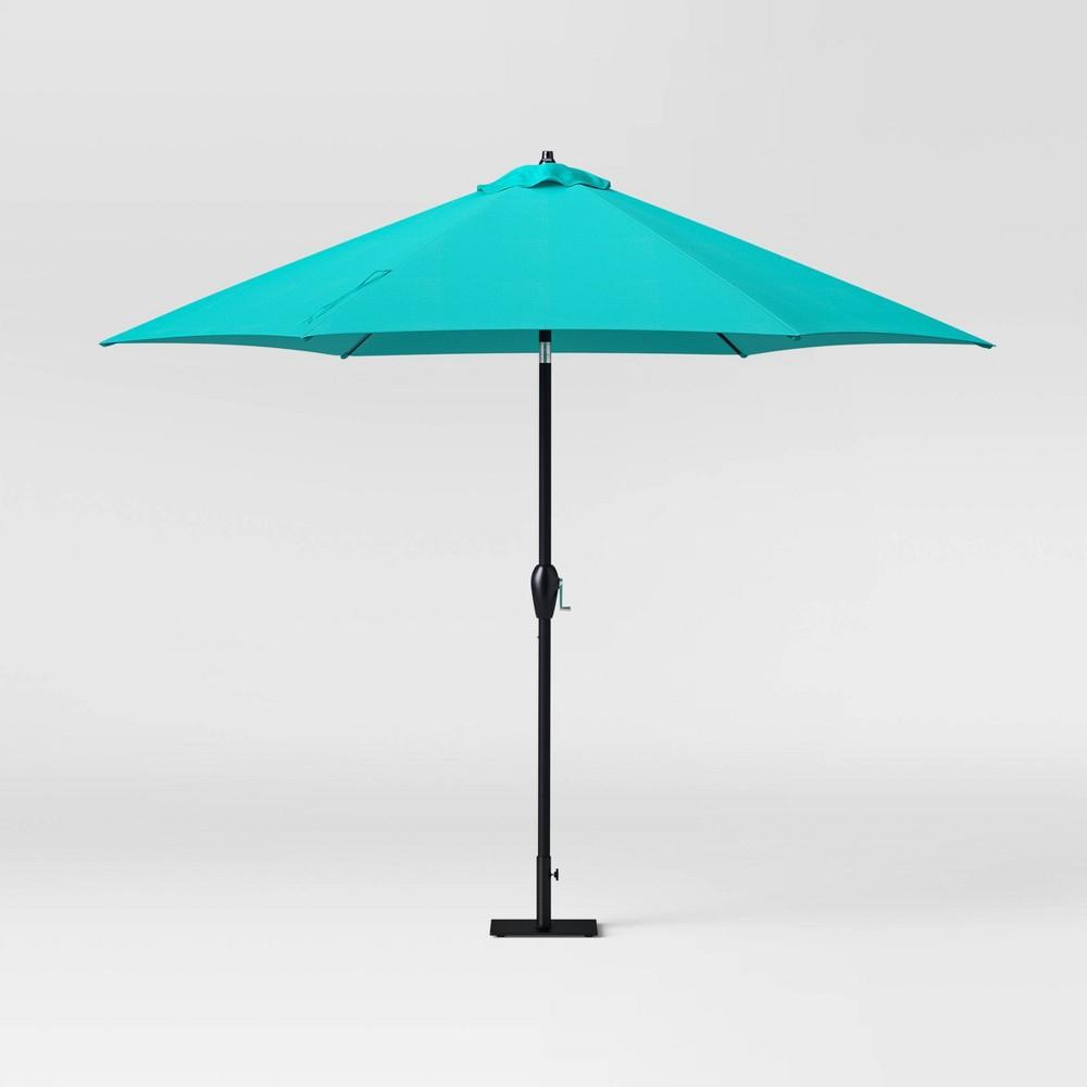 10 39 Patio Umbrella Duraseason Fabric 8482 Turquoise Threshold 8482