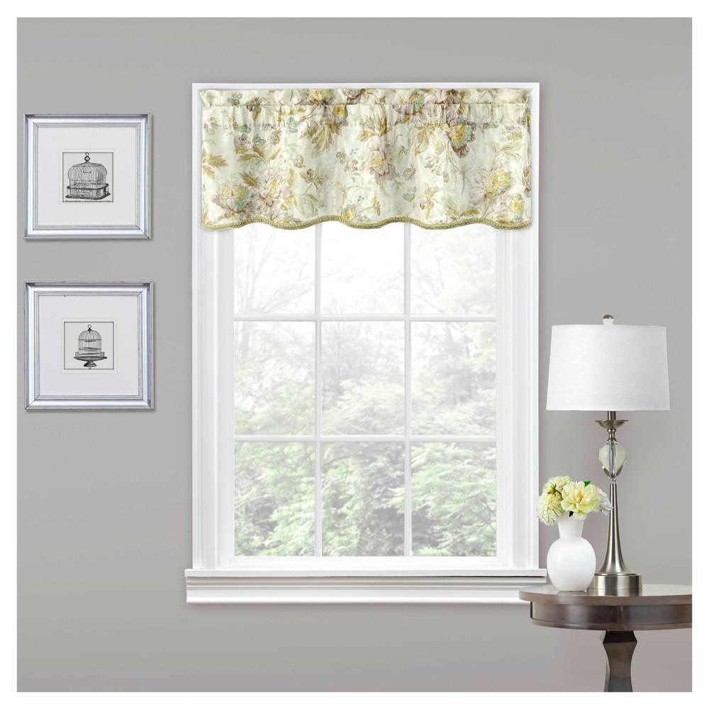Floral Window Valance Ivory (16