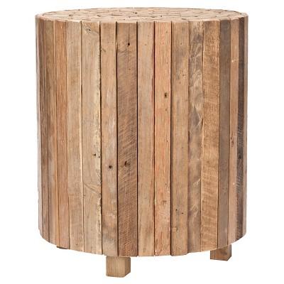Richmond Round End Table Medium Oak - Safavieh®