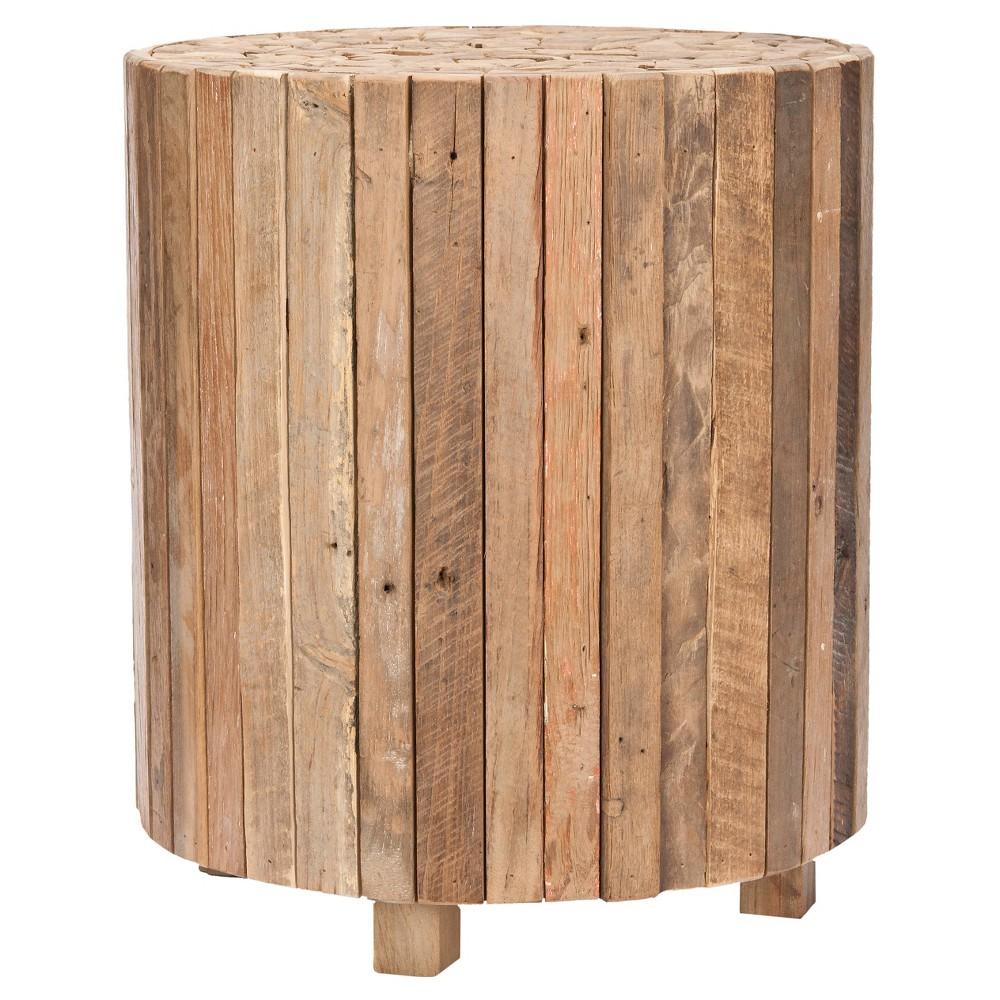Richmond Round End Table Medium Oak (Brown) - Safavieh