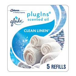 Glade Clean Linen PlugIns Refill - 5ct