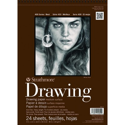 Strathmore 400 Series Drawing Pad, 14 x 17 Inches, 80 lb, 24 Sheets