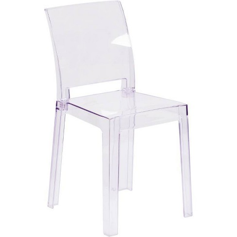 Ghost Chair with Square Back Clear - Riverstone Furniture Collection - image 1 of 4