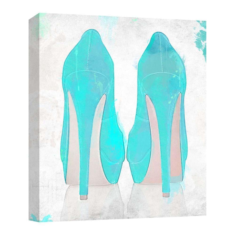 Blue Heel Decorative Canvas Wall Art 11