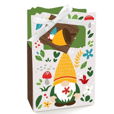 Big Dot of Happiness Garden Gnomes - Forest Gnome Party Favor Boxes - Set of 12