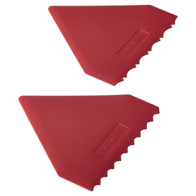 Cake Boss 2-Piece Plastic Icing Comb Set - Red