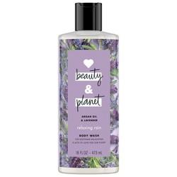 Love Beauty & Planet Argan Oil & Lavender Relaxing Body Wash Soap - 16 fl oz