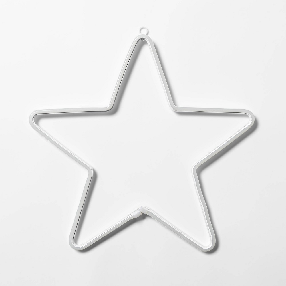 "Image of ""15.5"""" Christmas LED Faux Neon Star Novelty Silhouette Lights Pure White - Wondershop"""