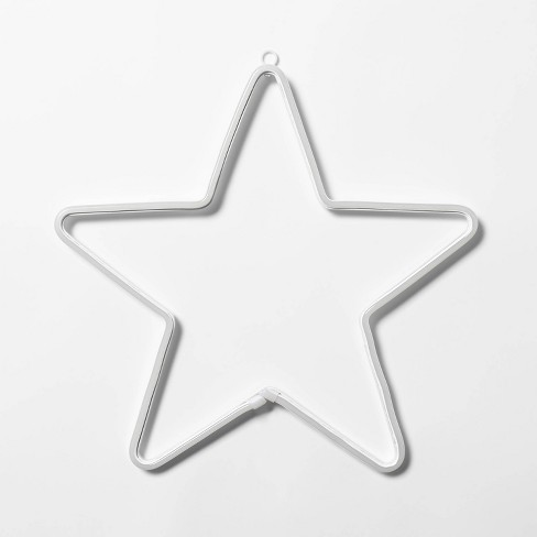 Christmas Star Silhouette.15 5 Christmas Led Faux Neon Star Novelty Silhouette Lights Pure White Wondershop