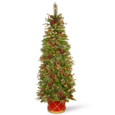 6ft National Tree Company Colonial Half Tree with Clear Lights