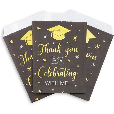 Sparkle and Bash 100-Pack Graduation Party Favor Paper Treat Bags Small Gift Bags (5 x 7.5 In)