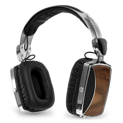 Victrola VSG-160 Wood and Chrome Rechargeable Bluetooth Headphones