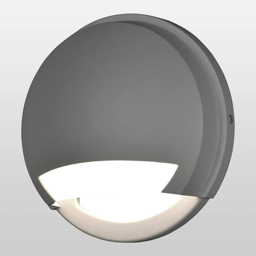 Image of Avante LED Outdoor Wall Light with Opal Glass Shade Gray - Access Lighting