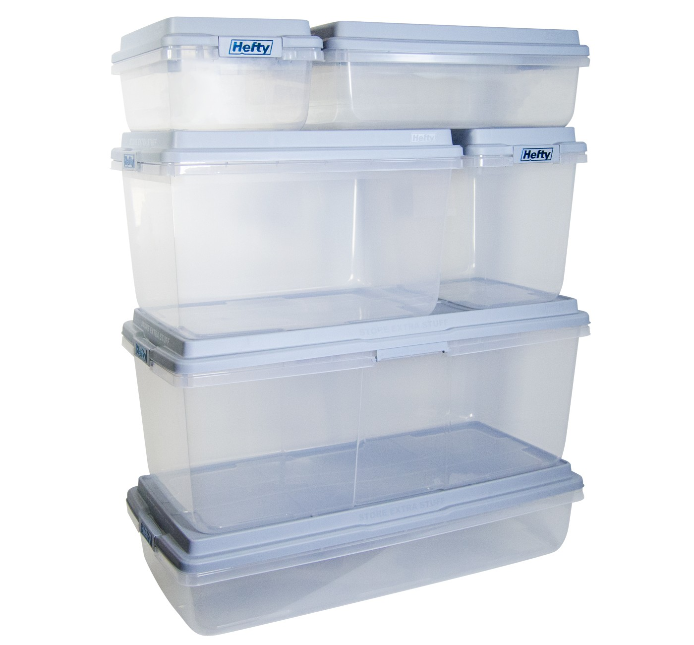 Hefty 72 Quart Storage Container - XL Clear Plastic Storage Bin with Gray HI-RISE Stackable Lid - image 7 of 7