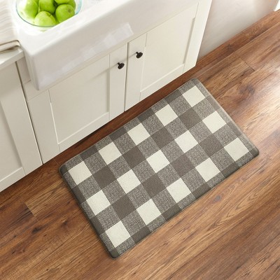 Farmhouse Living Buffalo Check Rustic Comfort Anti Fatigue Kitchen Mat - Elrene Home Fashions