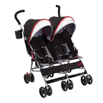 Delta Children Side by Side Umbrella Stroller - Red Triangular
