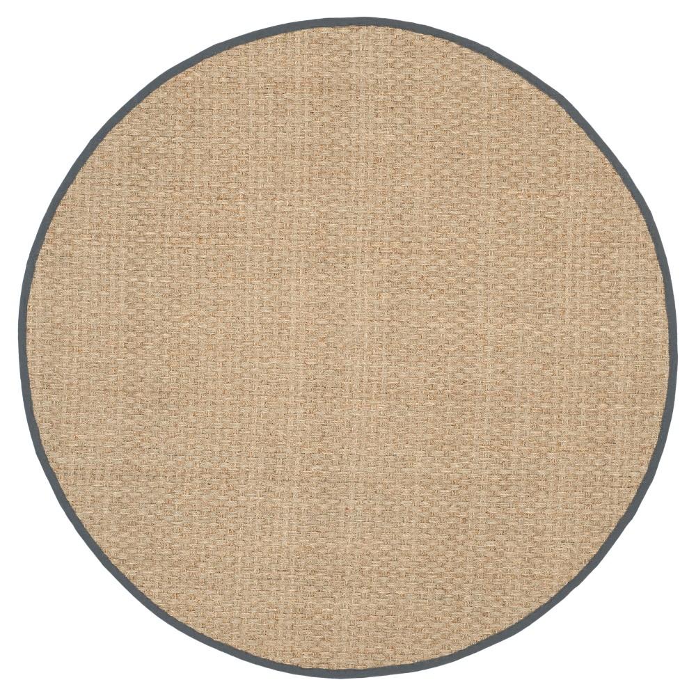 Natural Fiber Rug - Natural/Dark Gray - (6'x6' Round) - Safavieh