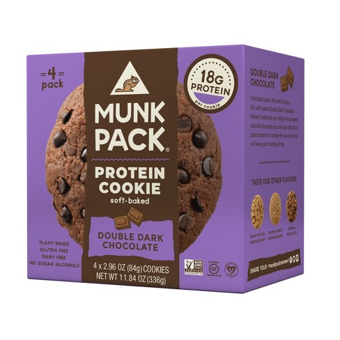 Munk Pack Protein Cookie - Double Dark Chocolate - 4pk - image 1 of 1