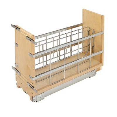 Rev-A-Shelf 447-BCBBSC-8C 447 Series 8-Inch Wide Pull Out Foil, Wrap, Sheet, and Tray Divider Cabinet Organizer for Kitchen Base Cabinets