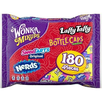 Mix Ups Laffy Taffy Bottlecaps SweeTARTS & Nerds Halloween Candy Variety Pack - 43.7oz/180ct