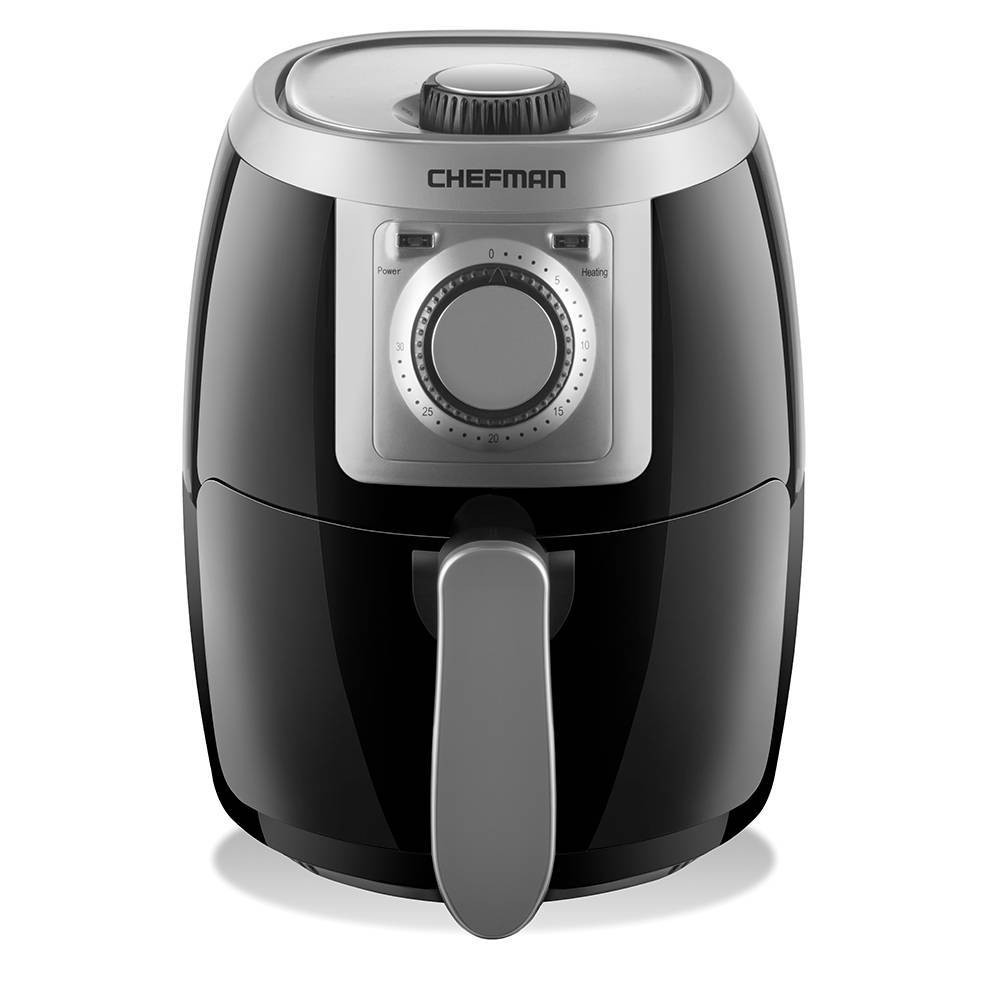Image of Chefman 2.1qt Analog Air Fryer - Black/Silver
