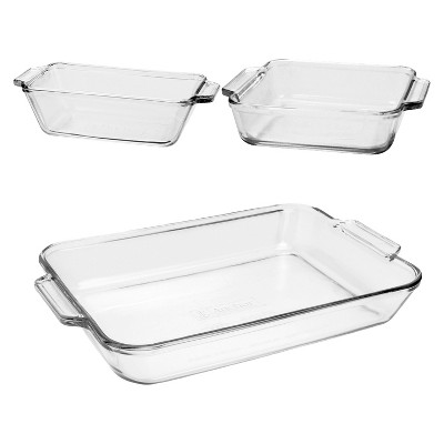 Anchor 3 Piece Glass Bakeware - Value Pack
