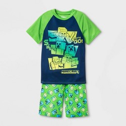 Boys' Minecraft 2pc Short Sleeve Pajama Set - Green