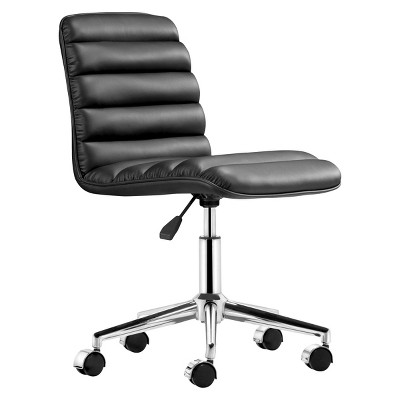 Zuo Modern Upholstered Adjustable Armless Office Chair   ZM Home