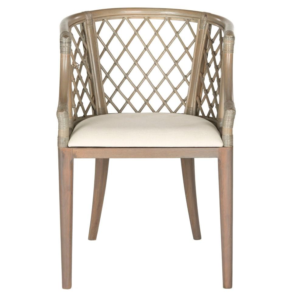 Dining Chair Wood/Light Gray - Safavieh