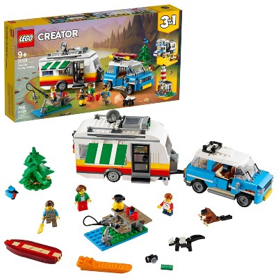 LEGO Creator 3in1 Caravan Family Holiday Outdoor Adventure Vacation Toy for Kids 31108