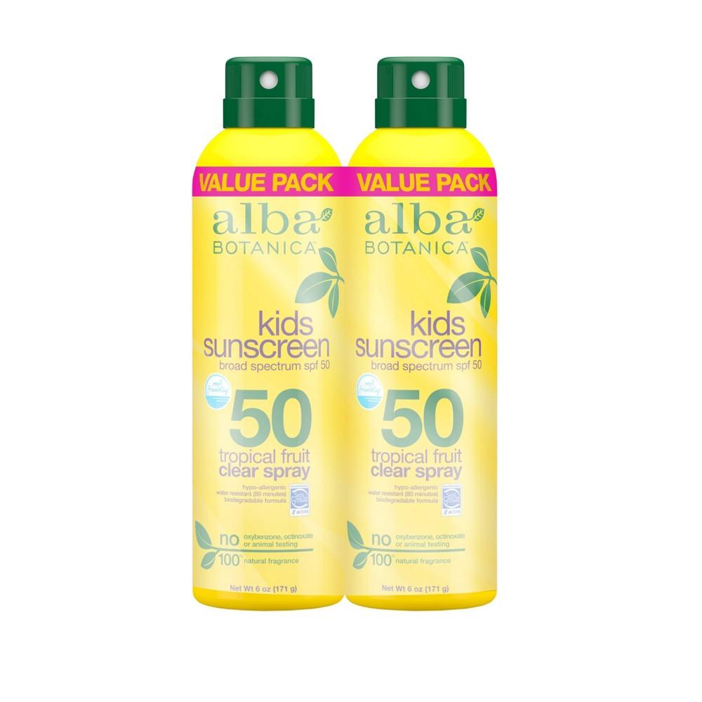 Image of Alba Botanica Kids' Sun Spray - SPF 50 - 2pk/6oz Each