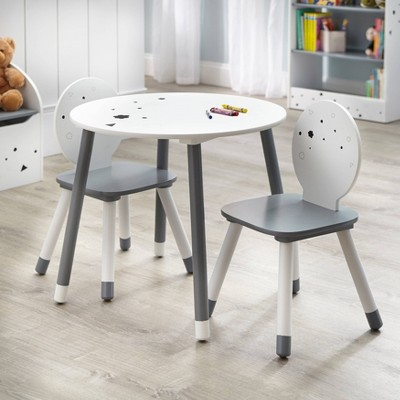 3pc Talori Kids' Table and Chair Set Gray/White - Buylateral