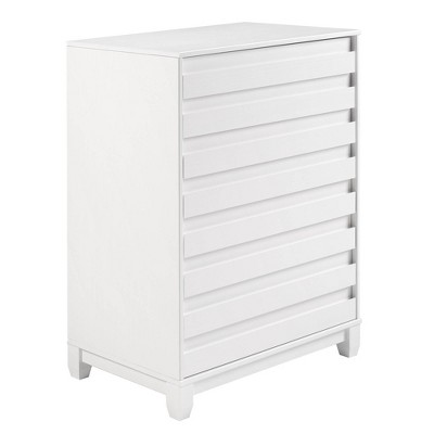 Ilya Solid Wood Modern Panel Front 4 Drawer Dresser Chest - Saracina Home