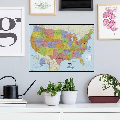 Dry Erase US Map Peel and Stick Giant Wall Decal - RoomMates